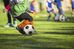 Football training for children
