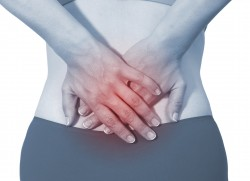 Acute pain in a woman back